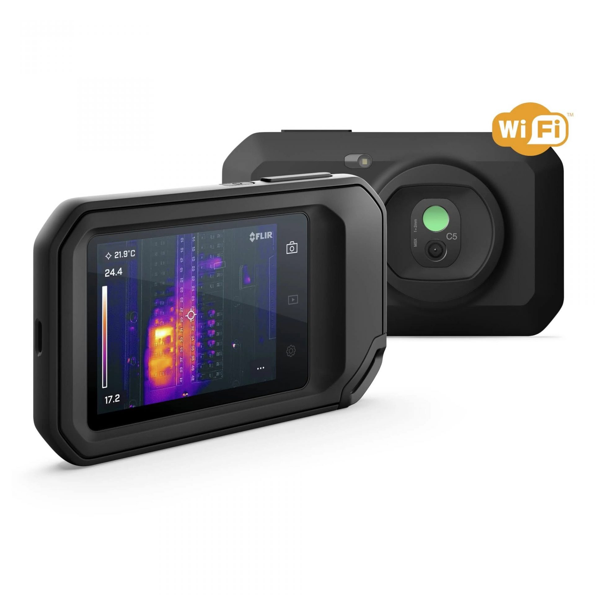 Our Home Inspector uses FLIR camera for thermal imaging